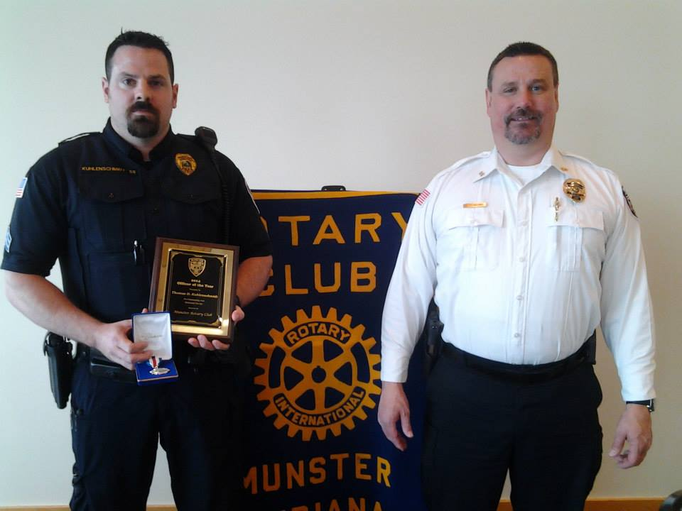 Munster Police Officers Honored During Annual Munster Rotary Luncheon