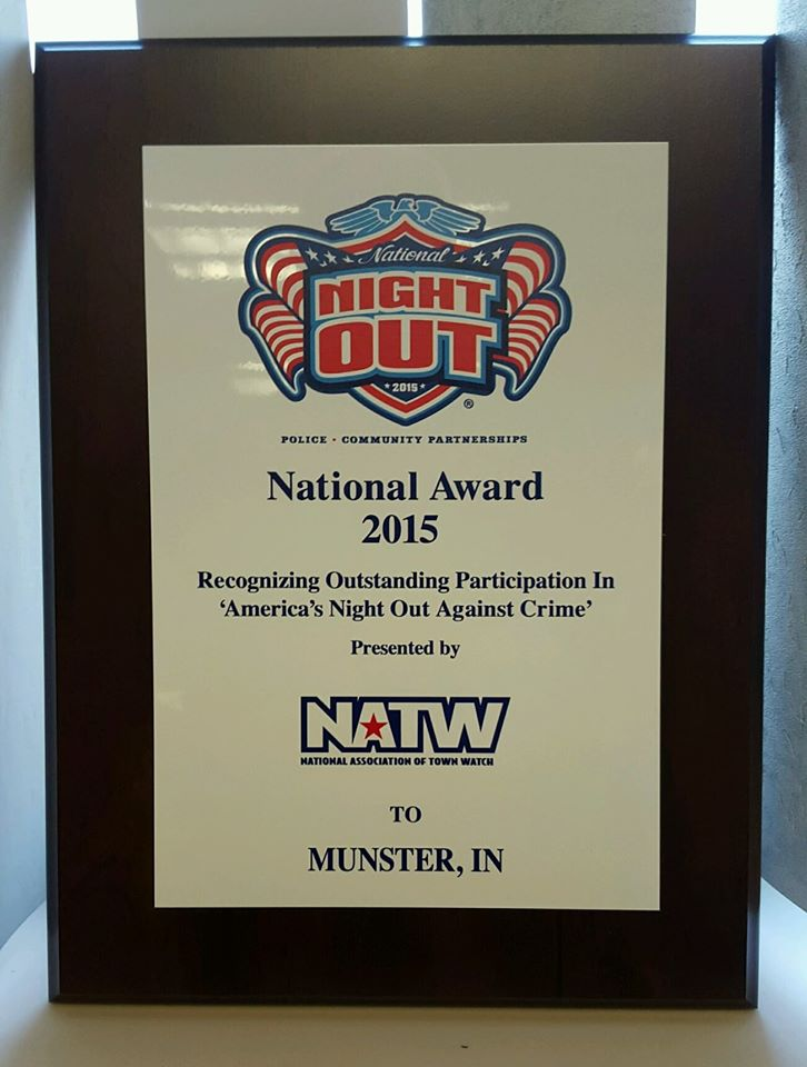 Munster's 2015 Night Out Against Crime Event Receives National Award