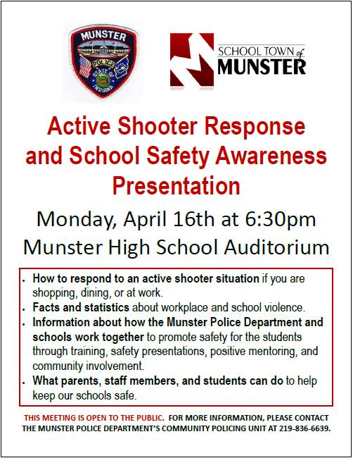 Image for news story: Active Shooter Response & School Safety Presentation - OPEN TO THE PUBLIC