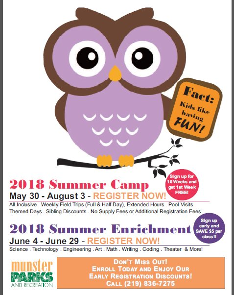 Image for news story: 2018 Summer Enrichment Guide