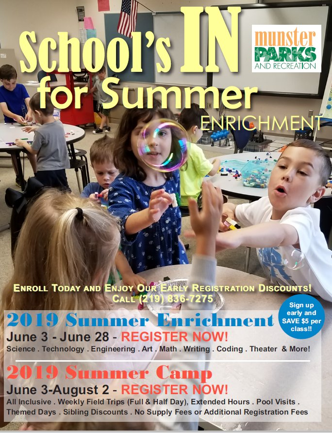 Image for news story: 2019 Summer Enrichment Guide