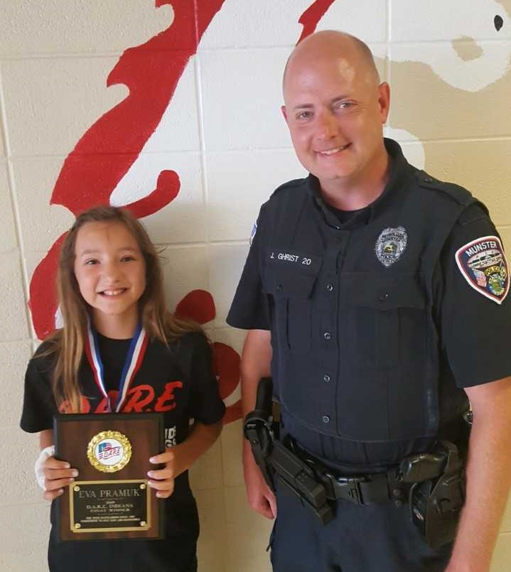 Image for news story: Munster Student Wins State-Wide DARE Essay Contest