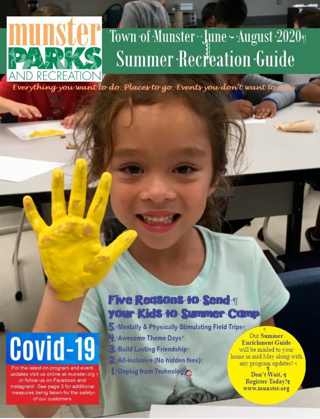 Image for news story: 2020 Summer Recreation Guide PDF File