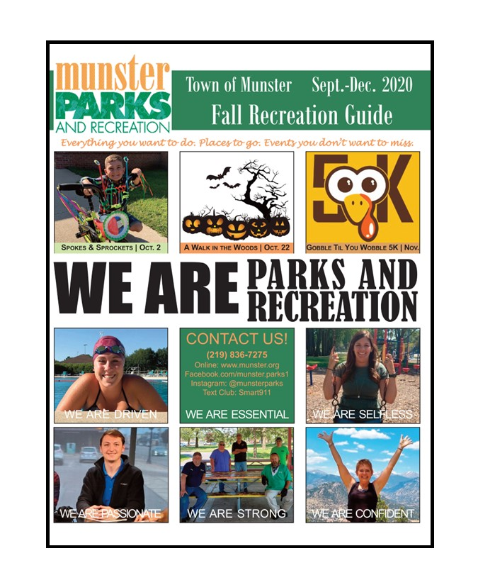 Image for news story: 2020 Fall Recreation Guide PDF File