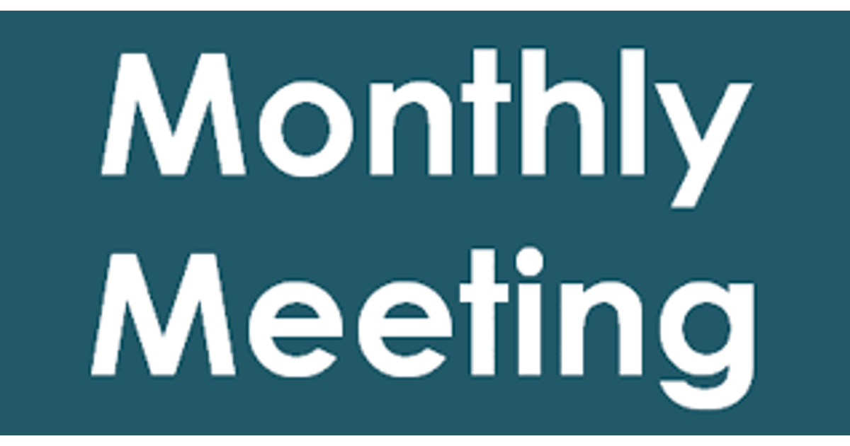 Image for news story: March Monthly Meeting Calendar