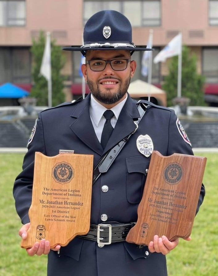 Image for news story: Munster Officer Wins Indiana American Legion Award