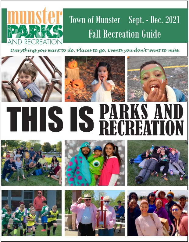 Image for news story: 2021 Fall Recreation Now Available