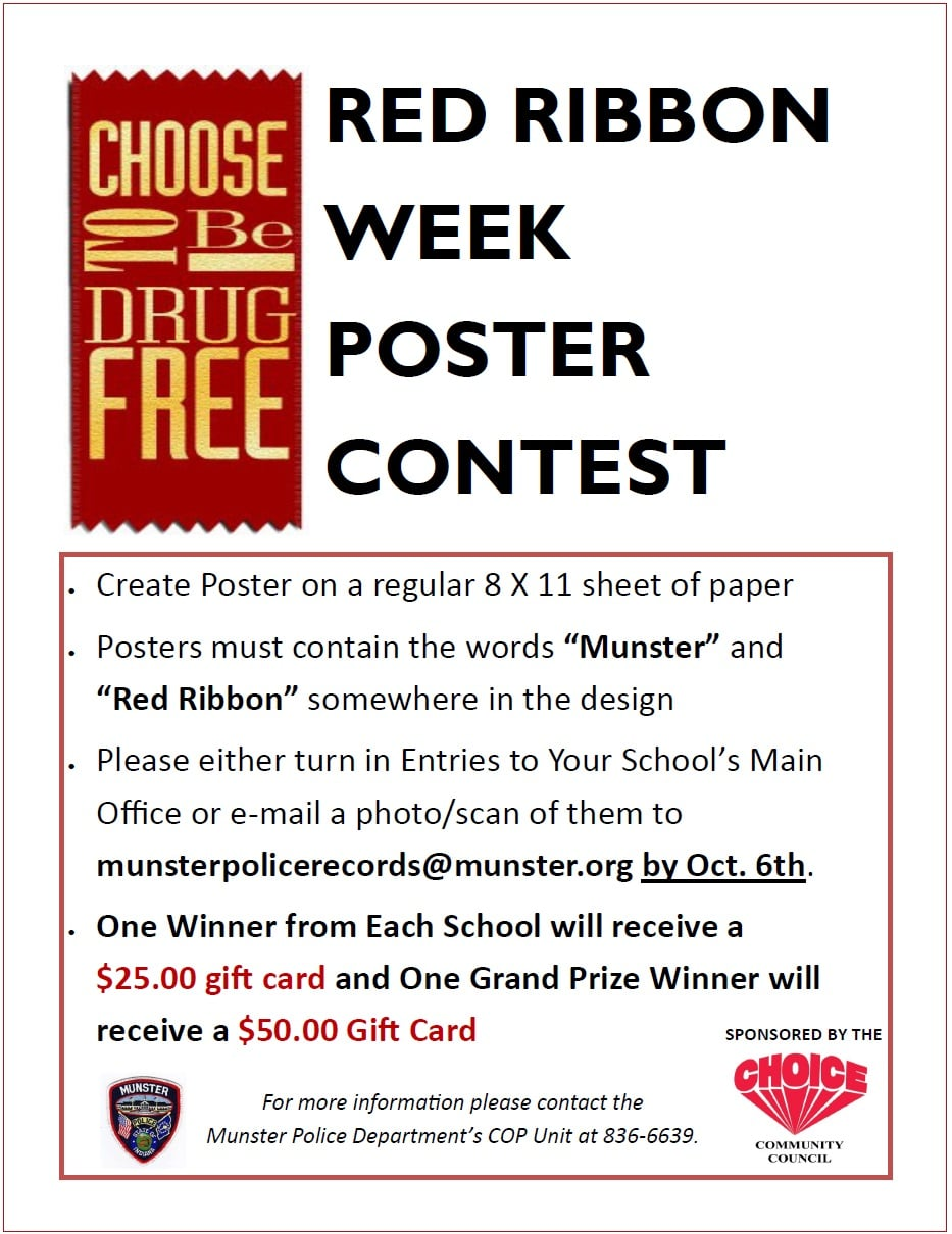 Image for news story: 2021 Munster Red Ribbon Week Poster Contest